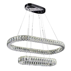 """33"""" LED  Chandelier with Chrome finish"""