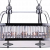 """Picture of 34"""" 10 Light Drum Shade Island Light with Chrome finish"""