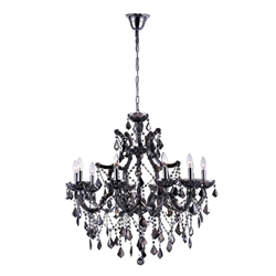 """34"""" 10 Light Up Chandelier with Chrome finish"""