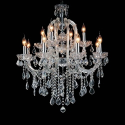 "34"" 12 Light Up Chandelier with Chrome finish"