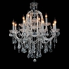 "Picture of 34"" 15 Light Up Chandelier with Chrome finish"