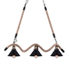 "Picture of 34"" 3 Light Up Chandelier with Black finish"