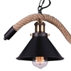 """Picture of 34"""" 3 Light Up Chandelier with Black finish"""