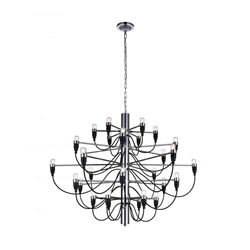 """34"""" 30 Light  Chandelier with Chrome finish"""