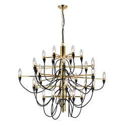 """34"""" 30 Light  Chandelier with Gold finish"""