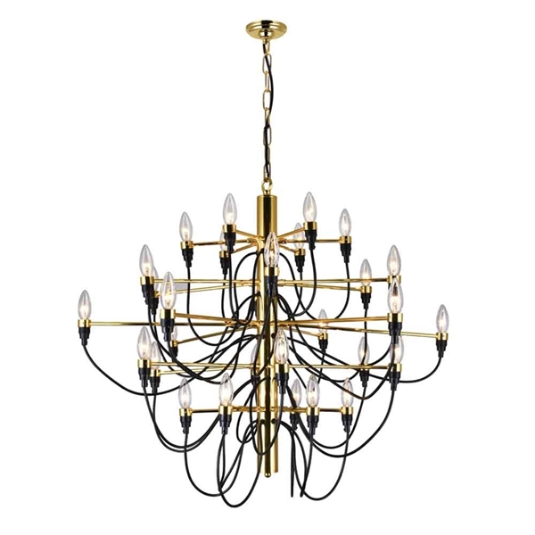 "Picture of 34"" 30 Light  Chandelier with Gold finish"