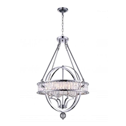 """34"""" 4 Light  Chandelier with Chrome finish"""