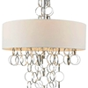 "Picture of 34"" 4 Light Drum Shade Chandelier with Chrome finish"