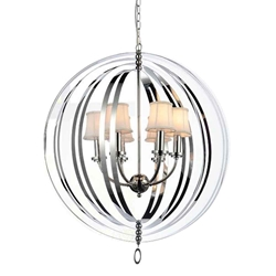 """34"""" 5 Light Up Chandelier with Chrome finish"""