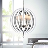 "Picture of 34"" 5 Light Up Chandelier with Chrome finish"