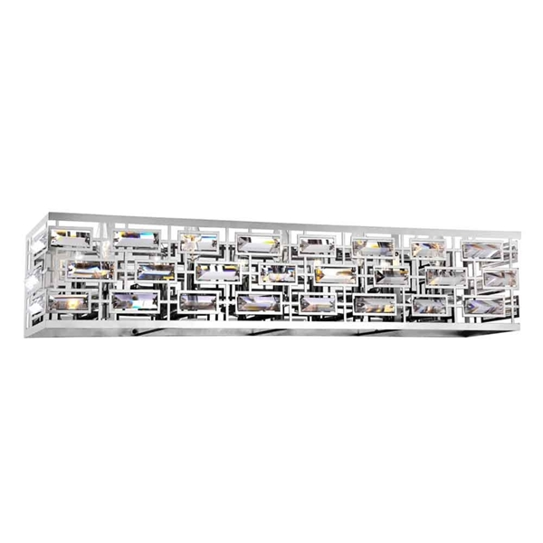 "Picture of 34"" 5 Light Vanity Light with Chrome finish"