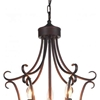 "Picture of 34"" 6 Light Up Chandelier with Oil Rubbed Brown finish"