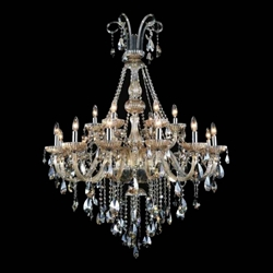 """34"""" 8 Light Up Chandelier with Chrome finish"""