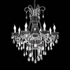 "Picture of 34"" 8 Light Up Chandelier with Chrome finish"