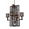 "Picture of 34"" 8 Light Up Chandelier with Golden Bronze finish"