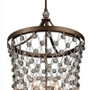 "Picture of 34"" 8 Light Up Chandelier with Speckled Bronze finish"