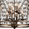 """Picture of 34"""" 8 Light Up Chandelier with Speckled Bronze finish"""