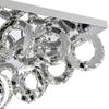 "Picture of 34"" Anelli Modern Crystal Rectangular Flush Mount Polished Chrome 90 LED Lights"