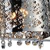 "Picture of 34"" Web Modern Laser Cut Crystal Rectangular (R) Vanity Light Stainless Steel 4 Lights"