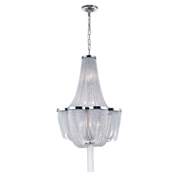 """35"""" 10 Light Down Chandelier with Chrome finish"""