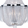 "Picture of 35"" 10 Light Down Chandelier with Chrome finish"