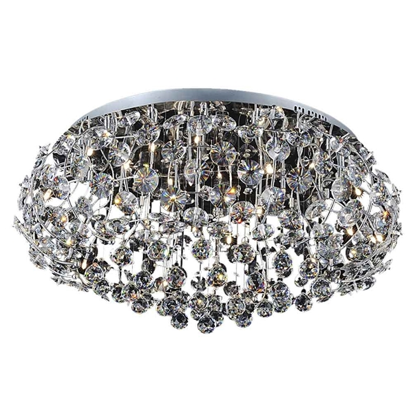 "Picture of 35"" 15 Light  Flush Mount with Chrome finish"