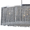 "Picture of 35"" 15 Light Down Chandelier with Chrome finish"