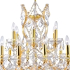 "Picture of 35"" 19 Light Up Chandelier with Gold finish"