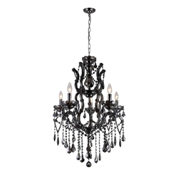 """35"""" 5 Light Up Chandelier with Chrome finish"""