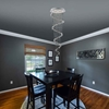 """Picture of 35"""" 6 Light  Flush Mount with Chrome finish"""