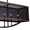 """Picture of 35"""" 6 Light Chandelier with Antique Copper Finish"""