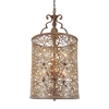 "Picture of 35"" 6 Light Drum Shade Chandelier with Brushed Chocolate finish"