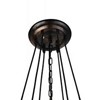 "Picture of 35"" 7 Light Down Chandelier with Blackened Copper finish"