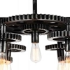 "Picture of 35"" 7 Light Down Chandelier with Silver Gray finish"