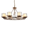 "Picture of 35"" 8 Light Candle Chandelier with Satin Nickel finish"
