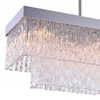 """Picture of 35"""" 8 Light Island Chandelier with Chrome finish"""