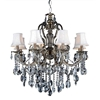 "Picture of 35"" 8 Light Up Chandelier with Antique Brass finish"