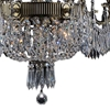 "Picture of 35"" 9 Light Up Chandelier with Antique Brass finish"