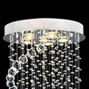 "Picture of 35"" Spiral Modern Foyer Crystal Round Chandelier Mirror Stainless Steel Base 6 Lights"