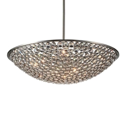 "36"" 10 Light  Chandelier with Satin Nickel finish"