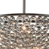 "Picture of 36"" 10 Light  Chandelier with Satin Nickel finish"