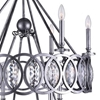 "Picture of 36"" 10 Light Candle Chandelier with Gun Metal finish"