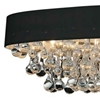 """Picture of 36"""" 10 Light Drum Shade Flush Mount with Chrome finish"""