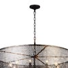 "Picture of 36"" 10 Light Up Chandelier with Golden Bronze finish"
