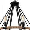 "Picture of 36"" 14 Light Up Chandelier with Black finish"