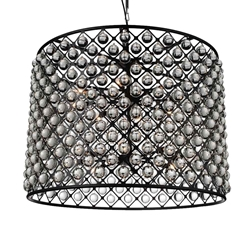 "36"" 16 Light  Chandelier with Black finish"