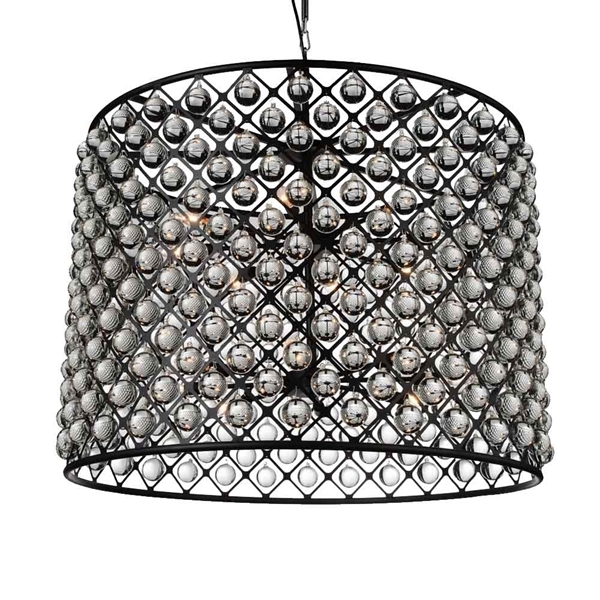 """Picture of 36"""" 16 Light  Chandelier with Black finish"""
