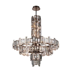 "36"" 18 Light Down Chandelier with Champagne finish"