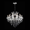 "Picture of 36"" 19 Light Up Chandelier with Chrome finish"