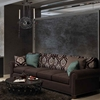 """Picture of 36"""" 2 Light Up Chandelier with Gray finish"""
